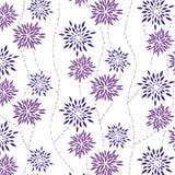 Naadloze bloemenachtergrond. Stock Afbeelding