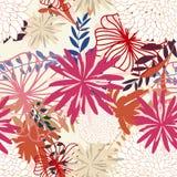 Naadloze bloemenachtergrond Royalty-vrije Stock Afbeeldingen