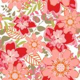 Naadloze bloemenachtergrond Royalty-vrije Stock Foto