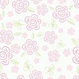 Naadloze bloemenachtergrond. vector illustratie