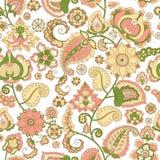 Naadloze bloemenachtergrond Stock Afbeelding