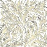 Naadloze bloemenachtergrond royalty-vrije stock afbeelding
