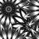 Naadloze bloemenachtergrond De achtergrondpatroon van de Tracery met de hand gemaakt aard met bloemen Decoratief binair art. Vect Royalty-vrije Stock Foto's