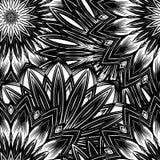 Naadloze bloemenachtergrond De achtergrondpatroon van de Tracery met de hand gemaakt aard met bloemen Decoratief binair art. Vect Stock Afbeelding