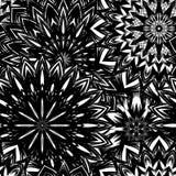 Naadloze bloemenachtergrond De achtergrondpatroon van de Tracery met de hand gemaakt aard met bloemen Decoratief binair art. Vect Royalty-vrije Stock Foto