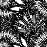 Naadloze bloemenachtergrond De achtergrondpatroon van de Tracery met de hand gemaakt aard met bloemen Decoratief binair art. Vect Stock Foto's