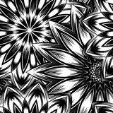 Naadloze bloemenachtergrond De achtergrondpatroon van de Tracery met de hand gemaakt aard met bloemen Decoratief binair art. Vect Stock Fotografie
