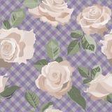 Naadloze Bloemenachtergrond met Gele Rozen Stock Fotografie