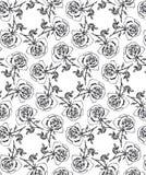 Naadloze bloemenachtergrond met rozen Royalty-vrije Stock Fotografie