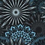 Naadloze bloemenachtergrond Patroon van de de stoffenachtergrond van de Tracery het met de hand gemaakte aard etnische met bloeme Stock Afbeelding