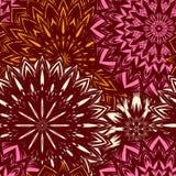 Naadloze bloemenachtergrond Patroon van de de stoffenachtergrond van de Tracery het met de hand gemaakte aard etnische met bloeme Royalty-vrije Stock Foto