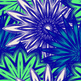 Naadloze bloemenachtergrond Patroon van de de stoffenachtergrond van de Tracery het met de hand gemaakte aard etnische met bloeme Royalty-vrije Stock Fotografie