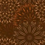 Naadloze bloemenachtergrond Patroon van de de stoffenachtergrond van de Tracery het met de hand gemaakte aard etnische met bloeme Royalty-vrije Stock Afbeelding