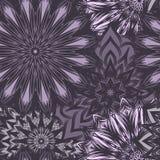 Naadloze bloemenachtergrond Patroon van de de stoffenachtergrond van de Tracery het met de hand gemaakte aard etnische met bloeme Stock Foto