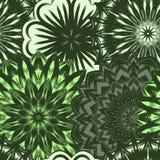 Naadloze bloemenachtergrond Patroon van de de stoffenachtergrond van de Tracery het met de hand gemaakte aard etnische met bloeme Royalty-vrije Stock Foto's