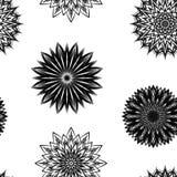 Naadloze bloemenachtergrond Patroon van de de stoffenachtergrond van de Tracery het met de hand gemaakte aard met bloemen Vector Royalty-vrije Stock Afbeeldingen
