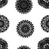 Naadloze bloemenachtergrond Patroon van de de stoffenachtergrond van de Tracery het met de hand gemaakte aard met bloemen Vector Royalty-vrije Stock Fotografie