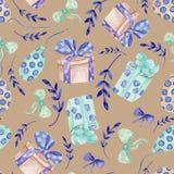 Naadloze bloemenachtergrond Patroon van de de stoffenachtergrond van de Tracery het met de hand gemaakte aard etnische met verzad royalty-vrije illustratie