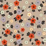 Naadloze bloemenachtergrond in vector Royalty-vrije Stock Afbeelding