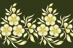 Naadloze bloemengrens vector illustratie