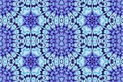 Naadloze bloemenornamenten lichtblauwe purple Royalty-vrije Stock Afbeeldingen