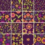 Naadloze bloemenpatronen Royalty-vrije Stock Foto