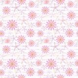 Naadloze bloemenpatroon heldere bloemen op een witte achtergrond Royalty-vrije Stock Fotografie