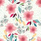 Naadloze bloemenpatroon vectorillustratie Royalty-vrije Stock Afbeelding