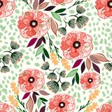 Naadloze bloemenpatroon vectorillustratie Royalty-vrije Stock Fotografie