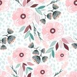 Naadloze bloemenpatroon vectorillustratie Stock Foto