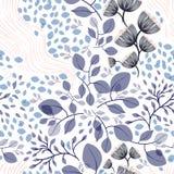 Naadloze bloemenpatroon vectorillustratie Royalty-vrije Stock Foto's