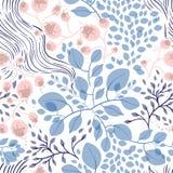 Naadloze bloemenpatroon vectorillustratie Stock Afbeeldingen