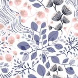 Naadloze bloemenpatroon vectorillustratie Stock Fotografie