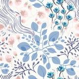 Naadloze bloemenpatroon vectorillustratie Stock Afbeelding