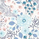 Naadloze bloemenpatroon vectorillustratie Stock Foto's