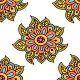 Naadloze bloemenpatroonachtergrond met groot Royalty-vrije Illustratie