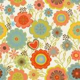Naadloze bloemenpatroonillustratie Stock Fotografie