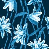 Naadloze bloemenpatroonlelies Stock Foto's
