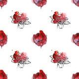 Naadloze bloemenpatroontulpen Royalty-vrije Stock Fotografie