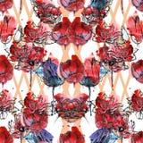 Naadloze bloemenpatroontulpen Royalty-vrije Stock Foto