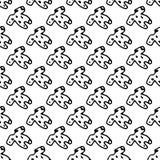 Naadloze bodysuit van de patroonhand getrokken baby krabbel Het stuk speelgoed van schetskinderen pictogram Genomen in Genua, Ita vector illustratie