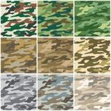 Naadloze camouflage Stock Afbeelding