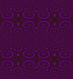 Naadloze cirkels en ellipsen groene patroon violette purpere olijf Stock Afbeelding