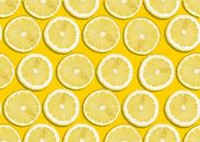 Naadloze citroenachtergrond Stock Afbeelding