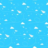Naadloze cloudscape Royalty-vrije Stock Afbeeldingen