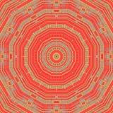 Naadloze concentrische roodbruine grijs van het cirkelpatroon Stock Foto