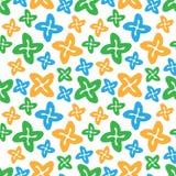 Naadloze de cijferskromme van patroon kleurrijke sterren Stock Foto's