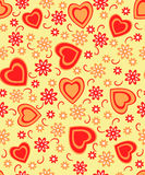 Naadloze de dag van Valentine, patroon Royalty-vrije Stock Afbeeldingen