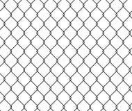 Naadloze de draadomheining van het textuurmetaal, het vectormalplaatje van het illustratienet Stock Fotografie