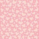 Naadloze de hartenachtergrond van de valentijnskaart Royalty-vrije Stock Afbeeldingen